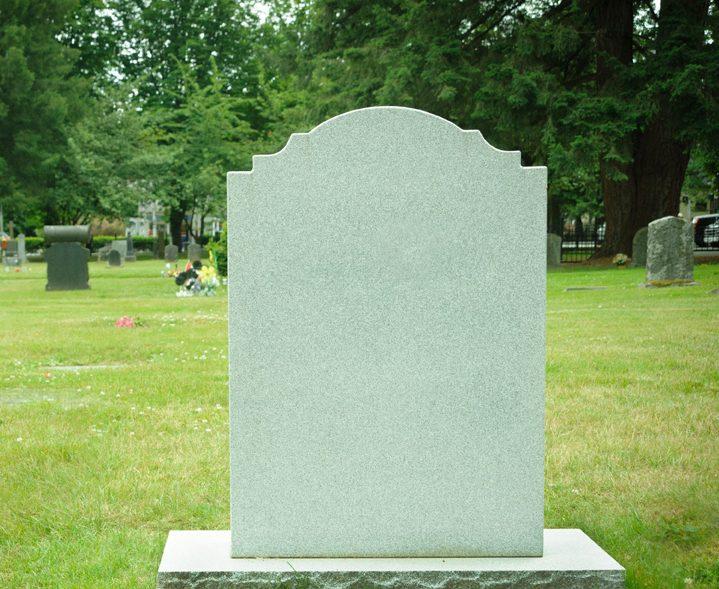 New light coloured gravestone